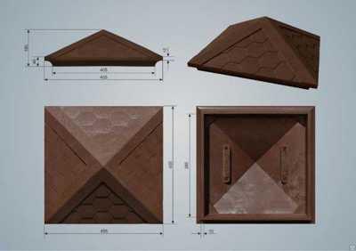 Полимерно-песчаный колпак Коричневый размер