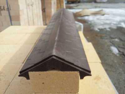 Полимерно-песчаный парапет Коричневый размер